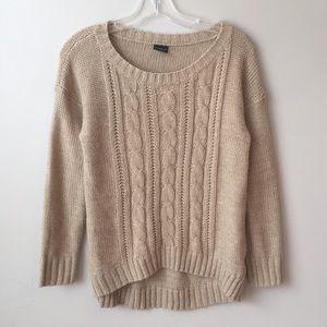 {Faded Glory} Knit Sweater tan S